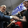 Republican presidential hopeful Ron Paul at a campaign event in Las Vegas on Feb. 3.