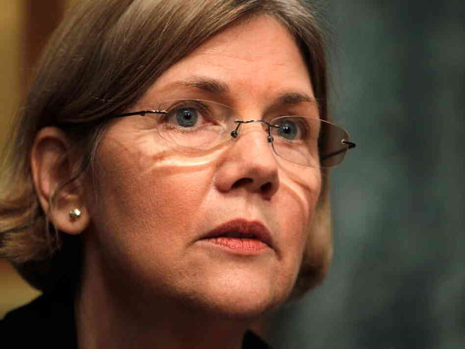 Massachusetts Senate candidate Elizabeth Warren is shown here attending a 2010 Capitol Hill hearing on the Troubled Asset Relief Program.