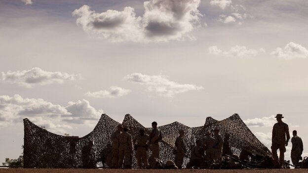U.S. Marines are shown during a training exercise south of Darwin, Australia. Marines recently arrived in Australia as part of a move by the U.S. to place greater emphasis on Asia and the Pacific.