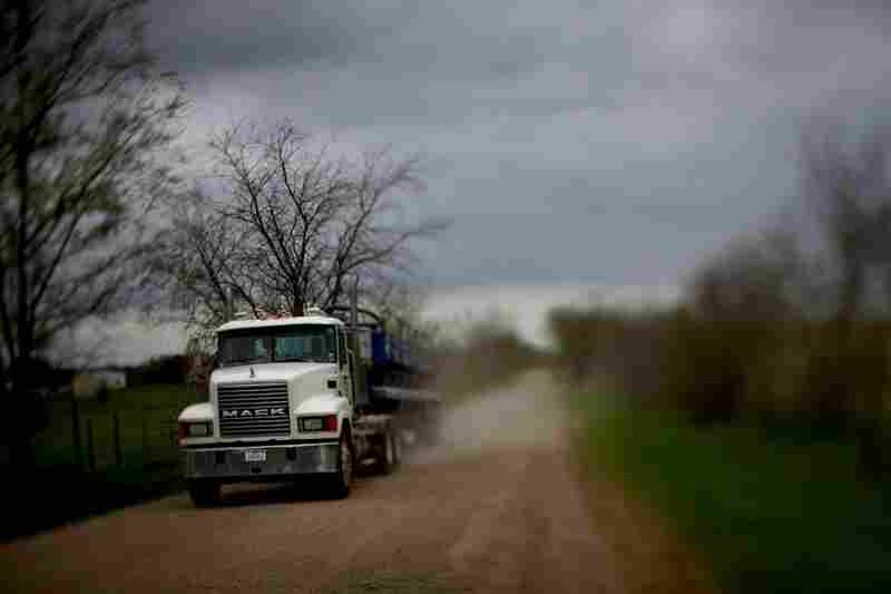 Along with drilling comes heavy traffic from big rigs that transport both clean and contaminated water from fracking sites.