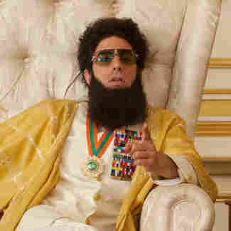 Sacha Baron Cohen plays Admiral General Aladeen, the authoritarian, anti-Semitic and unexpectedly sympathetic protagonist of The Dictator.