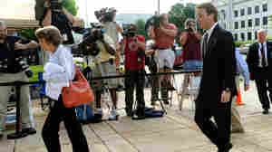 John Edwards as he entered the Federal Courthouse in Greensboro, N.C., this morning.
