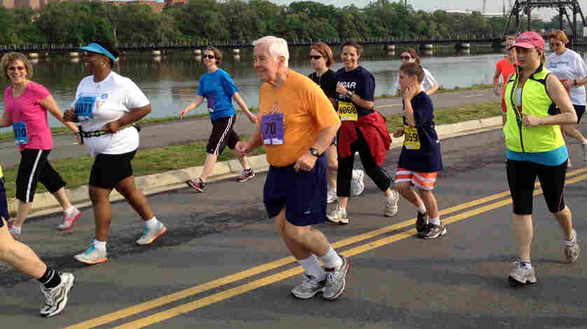 Sen. Dick Lugar, 80, runs in the Capital Challenge charity race. He has participated every year since the race started in 1981.