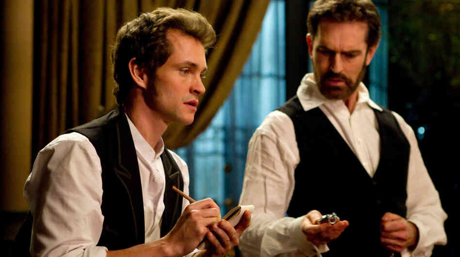 In seeking the best ways to treat his female patients' nervous conditions, forward-thinking Victorian physician Mortimer Granville (Hugh Dancy, left) enlists the help of his inventor friend Edmund St. John-Smythe (Rupert Everett). They soon stumble into inventing the vibrator.