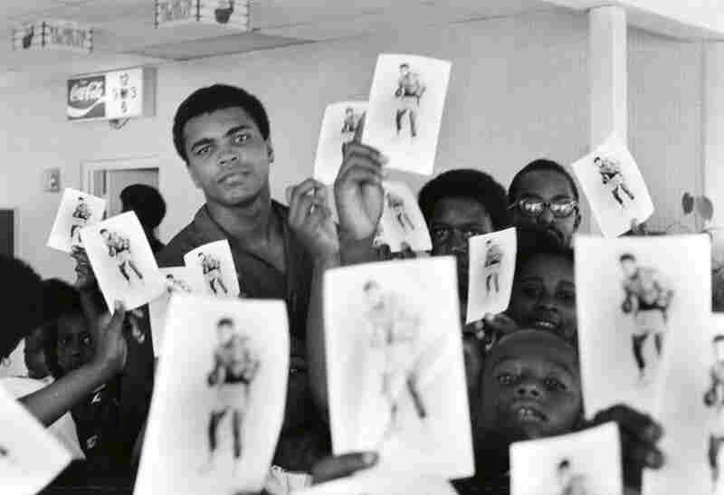 Muhammad Ali Gives Kids Autographs to Young Fans, Miami, Florida, 1970