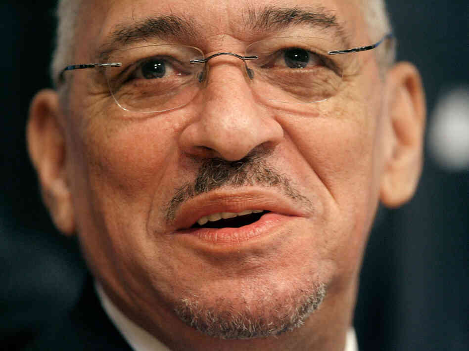 The Rev. Jeremiah Wright addresses the National Press Club in Washington in 2008.