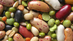 Dried beans and legumes are healthy and cheap.