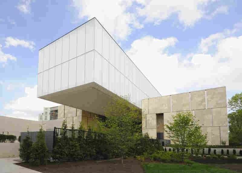Barnes Foundation officials say the new facility — with classrooms, a lecture hall and modern library — will help them better carry out the foundation's core educational mission. Above, the view of the new building from 21st Street.
