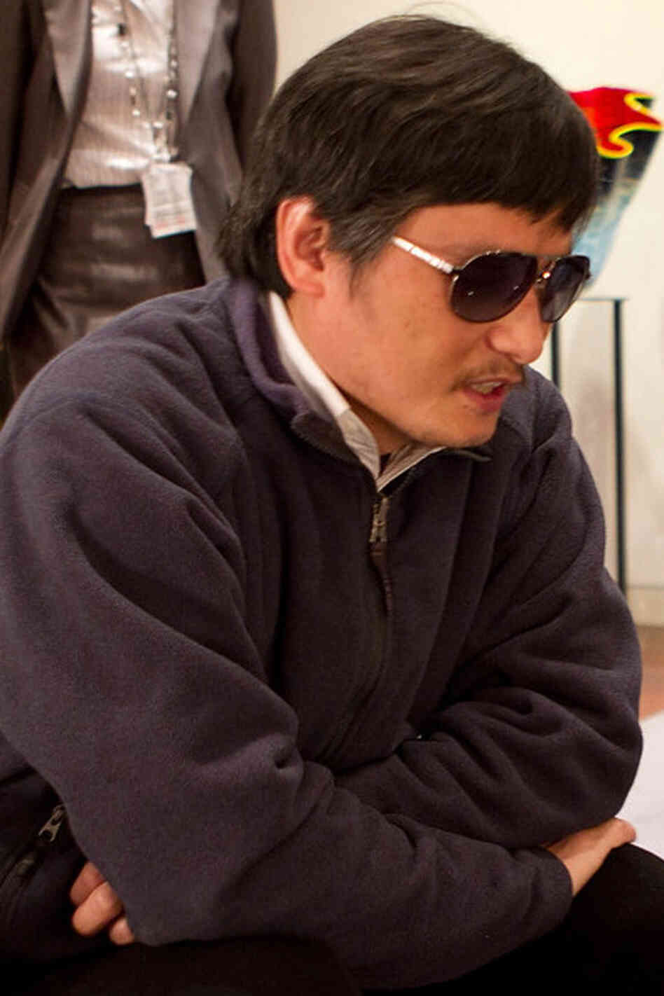 Chen Guangcheng just before he left the U.S. embassy in Beijing, on May 2.