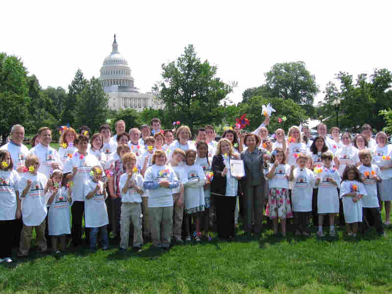 Same-sex families are in Washington to talk with legislators about adoption and foster care, and the repeal of the Defense of Marriage Act, among other issues.