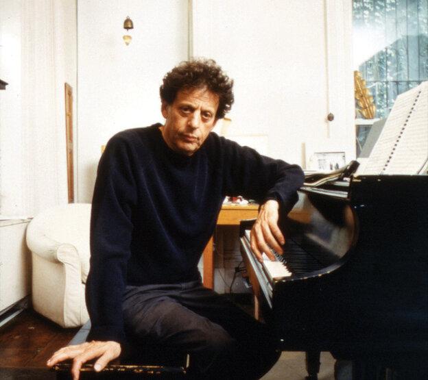 Composer Philip Glass.