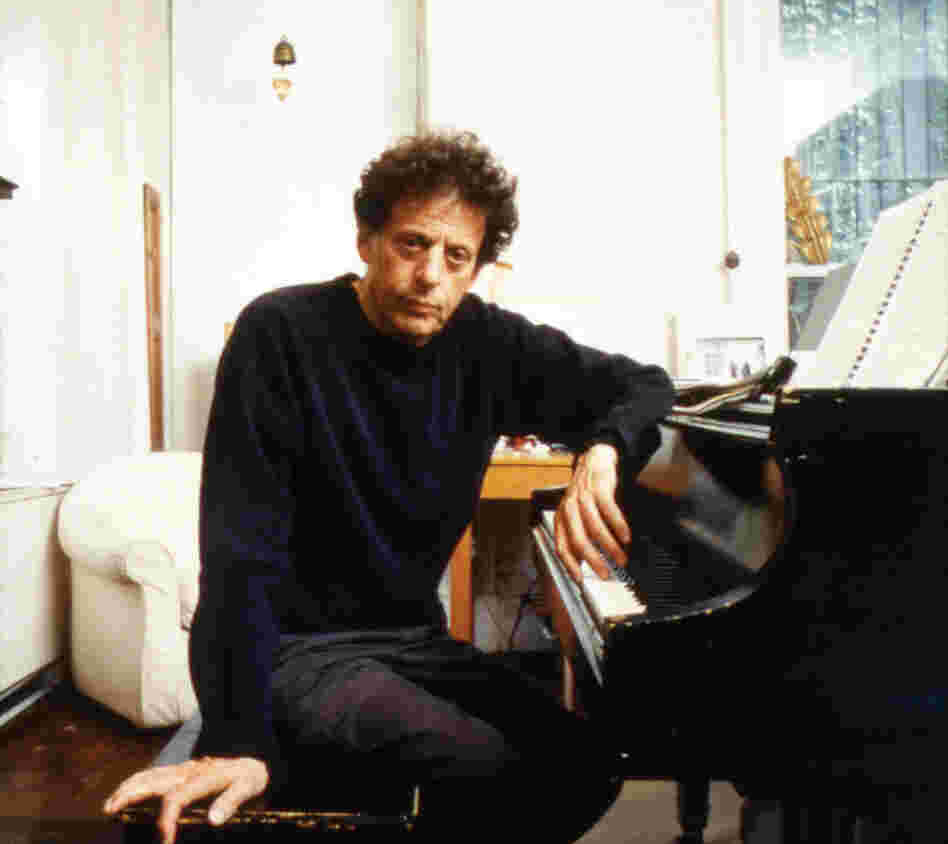 Composer Philip Glass.