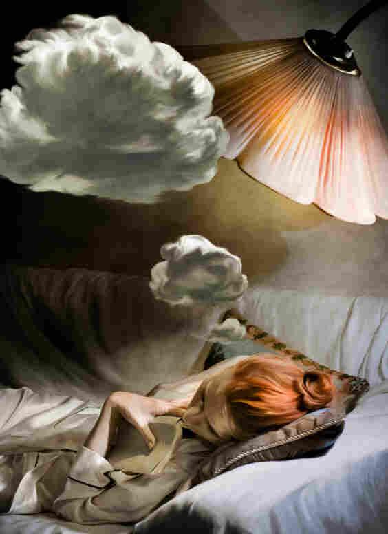 Woman dreaming.
