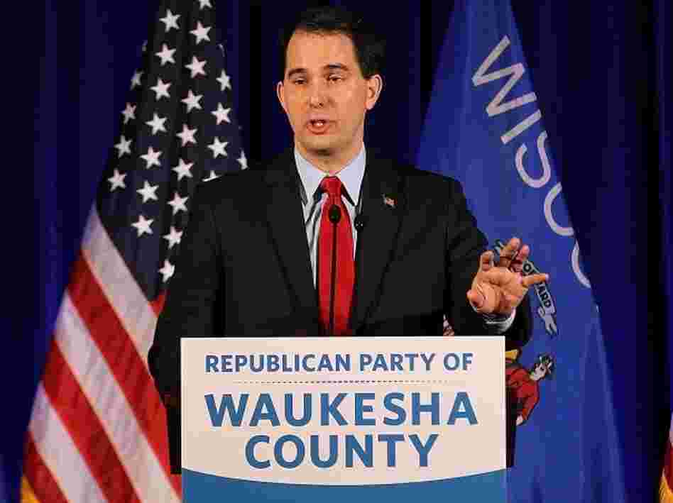 Wisconsin Gov. Scott Walker speaks during the Waukesha County GOP Lincoln Day dinner at the Country Springs Hotel on March 31, 2012 in Pewaukee, Wisconsin. Walker is facing a recall election in his state.