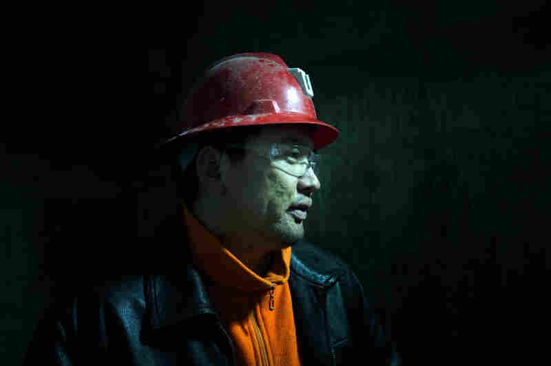 """Tseren-ochir is a superintendent at Oyu Tolgoi mine who goes by the name """"Augie"""" because it's easier for the foreigners he works with to pronounce. He is overseeing workers digging a nearly 5,000-foot-deep shaft down to reach the copper ore."""