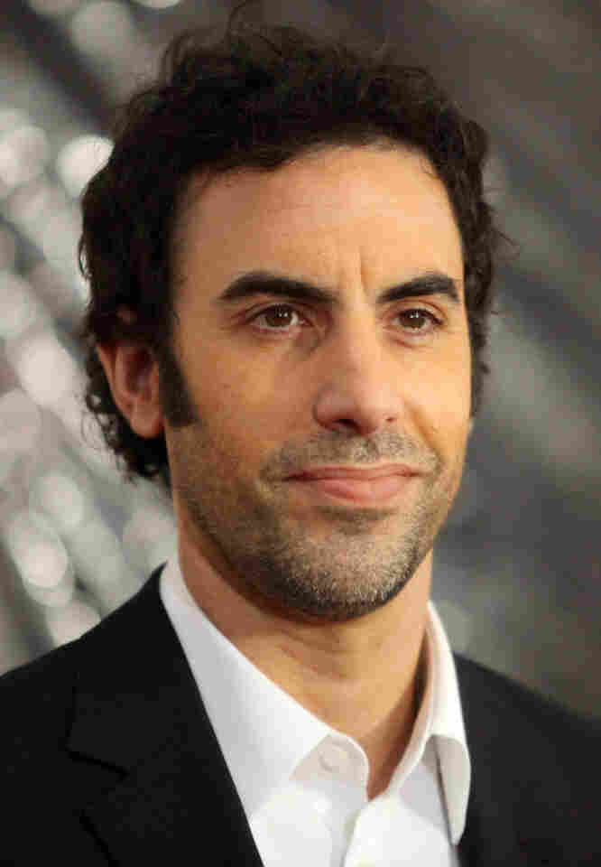 """Sacha Baron Cohen says he misses some of his previous characters, like Borat. """"This is quite a bizarre thing to say, isn't it, since they don't actually exist,"""" he says."""