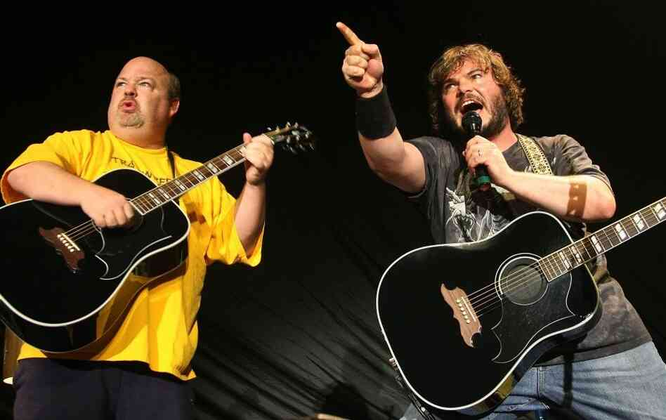 Kyle Gass (left) and Jack Black of Tenacious D.
