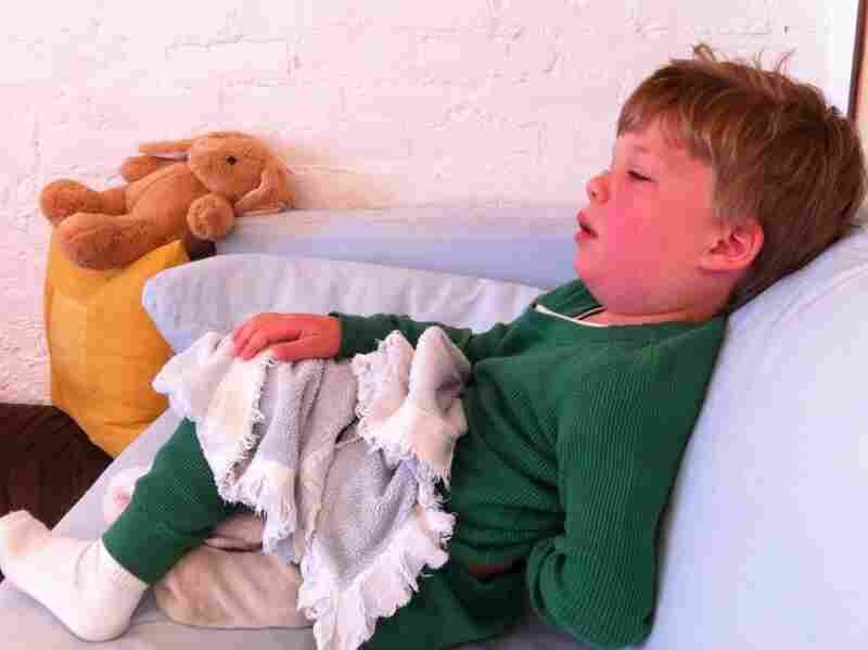 The photo Deborah Kogan posted on Facebook of her son, Leo, when he became sick in May 2011.
