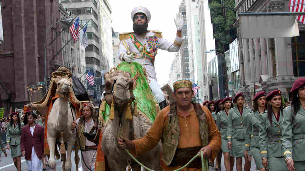 Sacha Baron Cohen plays the fictional North African leader Haffaz Aladeen in his new movie, The Dictator.