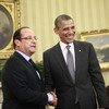 President Barack Obama meets with French President Francois Hollande on Friday in the Oval Office of the White House in Washington.