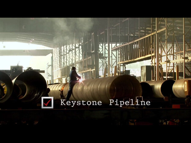 "Screenshot from Romney ""Day One"" ad."