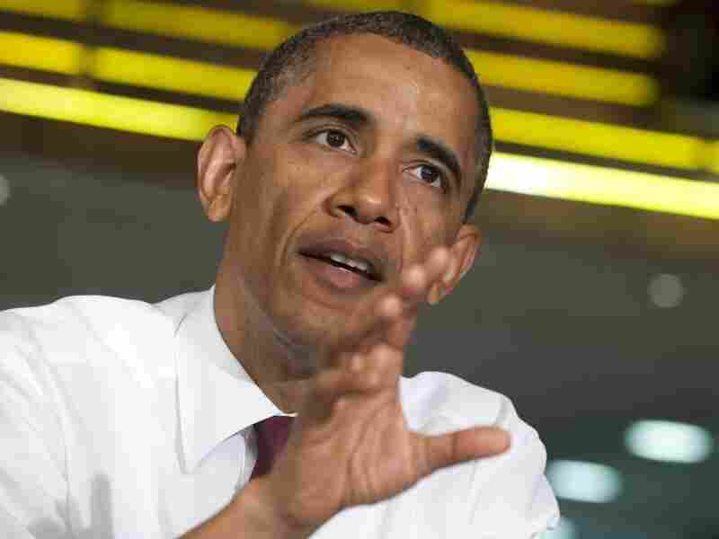 President Barack Obama speaks during a roundtable discussion with small business owners at the Taylor Gourmet restaurant in Washington, D.C., May 16, 2012. Obama urged Congress to invest in small businesses by passing legislation that will increase hiring and entreprenuership.
