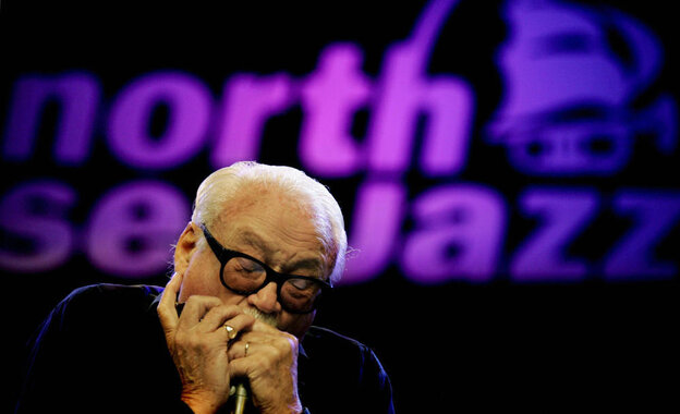 Toots Thielemans performs at the North Sea Jazz Festival in the Netherlands in July 2005. He's celebrating his 90th birthday with a series of concerts throughout his native Belgium.