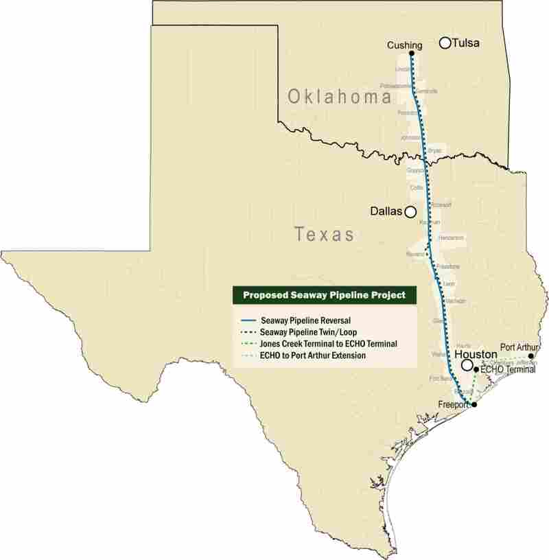 After 17 years of operation, the Seaway Pipeline will reverse flow and send oil from the U.S. heartland to refineries on the Gulf Coast.