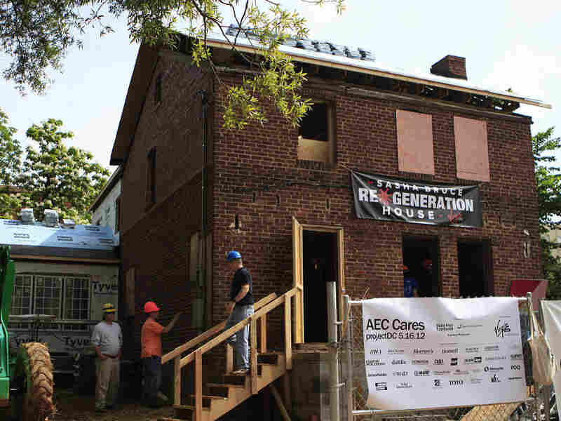 "When complete, the ""blitz build"" house will become a residence for homeless youth."