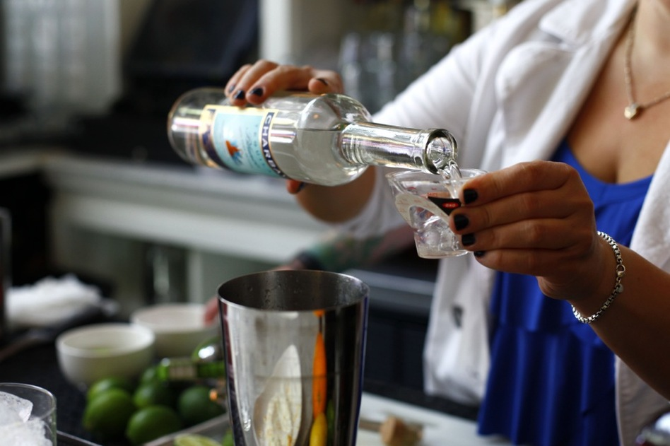Add 1.5 ounces tequila, 1/2 ounce Cointreau and the juice of 1 lime, and shake. (NPR)
