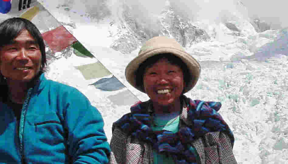 Tamae Watanabe (right) of Japan in 2002 at a base camp on the foot of Mount Everest in Nepal. She became the oldest woman to summit during that climb. She did it again Saturday morning at age 73.