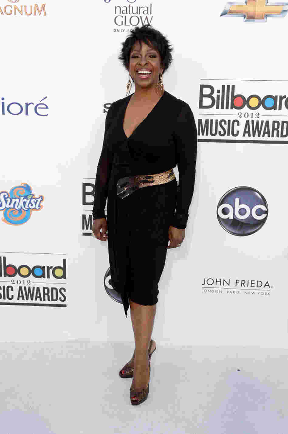 Singer Gladys Knight arrives at the 2012 Billboard Music Awards held Sunday night.