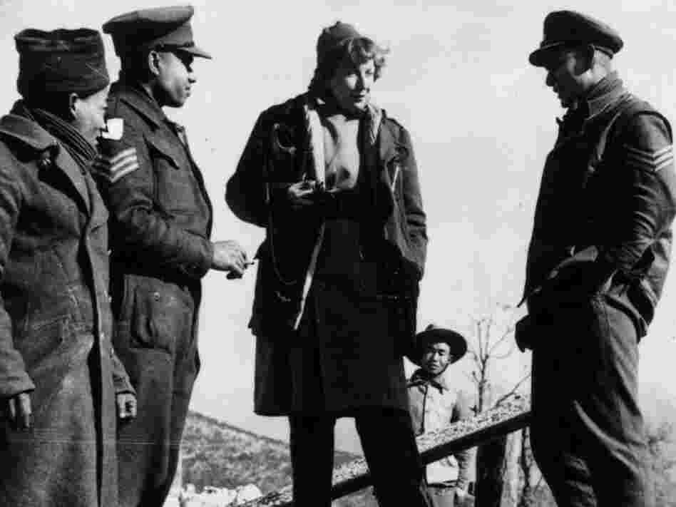 In Italy in 1944, Gellhorn talks to Indian soldiers of the British army on the 5th Army's Cassino front.