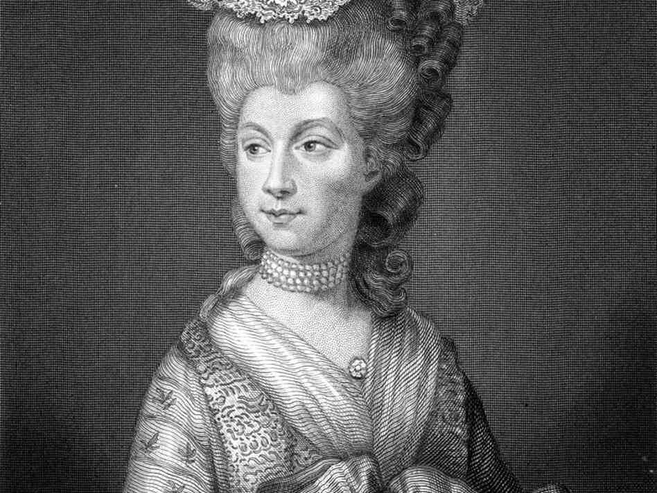 Queen Charlotte Sophia, wife of King George III and the original celebrity endorser.