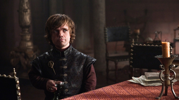 """Peter Dinklage plays Tyrion Lannister on Game of Thrones, a role that he tells NPR he talked over with his grandmother. """"She misunderstood me and she thought I said, 'interior banisters,' and she was quite confused by that, so it got off to sort of a clunky start."""" Dinklage has since won an Emmy and a Golden Globe for his performance. (HBO)"""