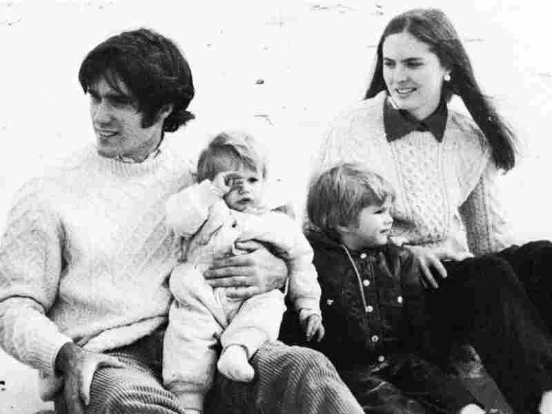 Mitt Romney with his wife, Ann, and two sons at a business school clambake in 1973.