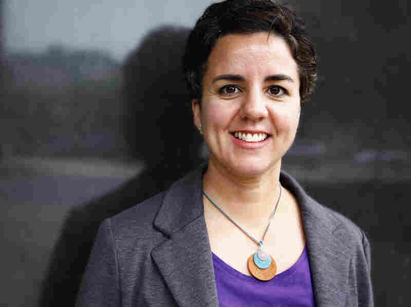 Carmen Gimenez Smith visits NPR headquarters in Washington on Monday.