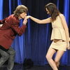 Mick Jagger and Kristen Wiig in the final sketch of the Saturday Night Live season finale.
