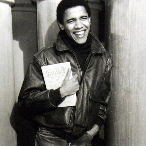 While a student at Harvard Law School, Barack Obama became the first black president of the Harvard Law Review.