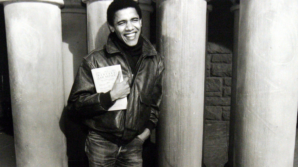 While a student at Harvard Law School, Barack Obama became the first black president of the Harvard Law Review. (AP)