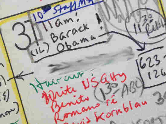 Harvard professor Laurence Tribe's calendar for March 31, 1989, marks his first meeting with future President Barack Obama. The exclamation point was to remind Tribe how impressed he was with the first-year law student.