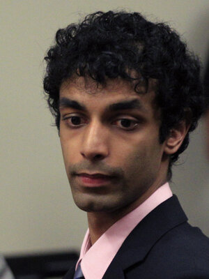 Dharun Ravi in a Brunswick, N.J., court today during his sentencing.