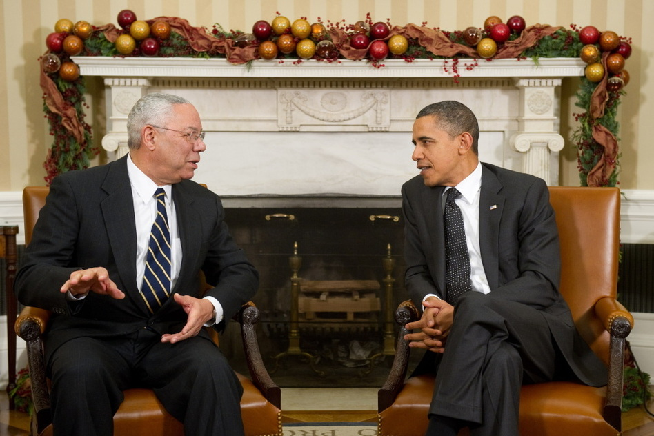 "Powell endorsed Barack Obama for president in 2008. ""I'm proud of the vote I cast for him in 2008, I think he was absolutely the right choice,"" Powell says. When it comes to the 2012 election, Powell says he's ""not prepared"" to say who he'll be voting for. (AFP/Getty Images)"