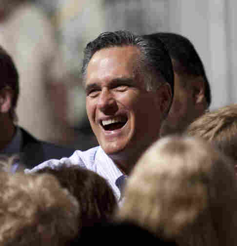 Mitt Romney greets the crowd during a campaign stop last week in St. Petersburg, Fla.