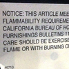 More than 80 percent of furniture sold in the U.S. is treated with flame-retardant chemicals.
