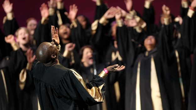 The Apostolic Tabernacle Mass Choir performs in Oakland, Calif., in 2010. (WireImage via Getty Image)