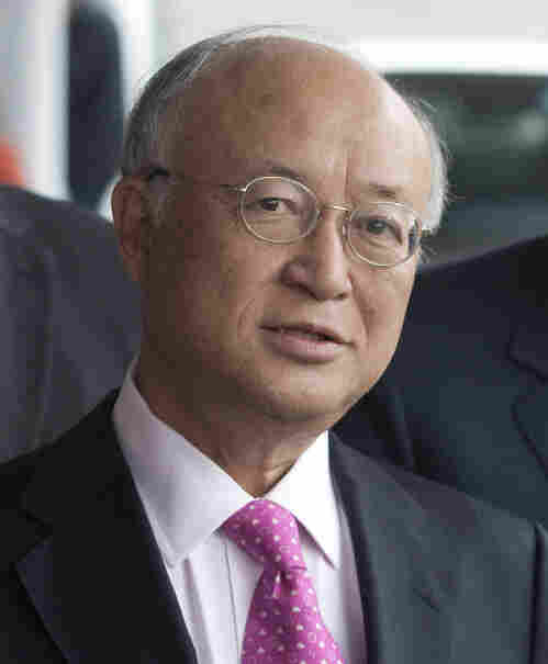 International Atomic Energy Agency Director-General Yukiya Amano earlier today in Vienna, after his return from talks in Tehran.