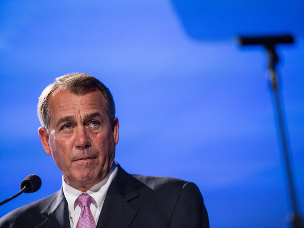 House Speaker John Boehner, R-Ohio, speaks at the 2012 Fiscal Summit held by the Peter G. Peterson Foundation on May 15 in Washington, D.C.