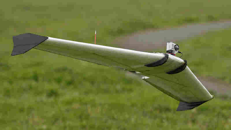 Interest in the domestic use of unmanned drones is surging among public agencies, raising privacy concerns. Here, a Ritewing Zephyr II flies with mounted camera in Berkeley, Calif.