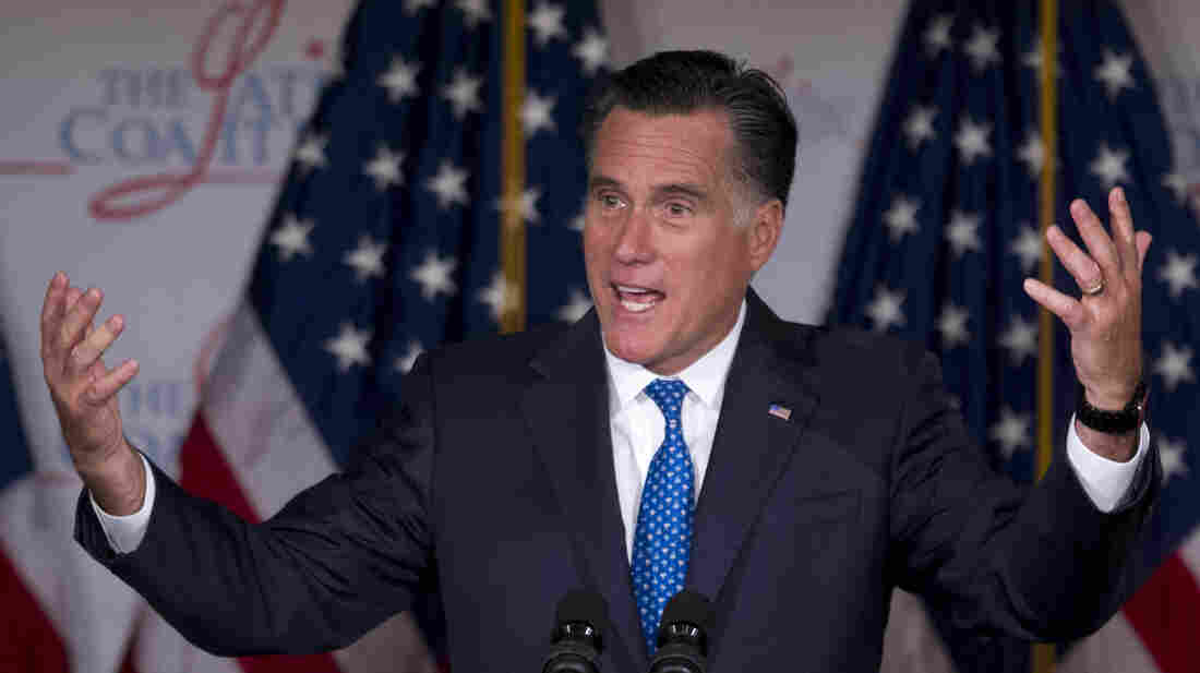 Mitt Romney speaks at the Latino Coalition annual economic summit  Wednesday in Washington, D.C.